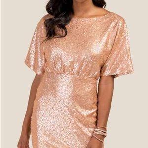 Francesca's NWT gold sequin dress ✨
